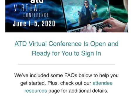 ATD Virtual Conference1 - Building capabilities and Connection
