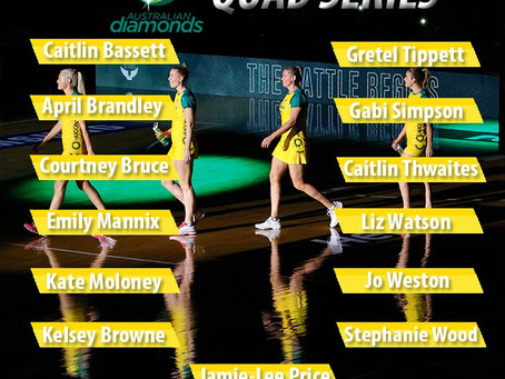 Netball Australia announce Diamonds 2019 Quad Series squad