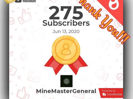 275 Subs on YouTube!!!