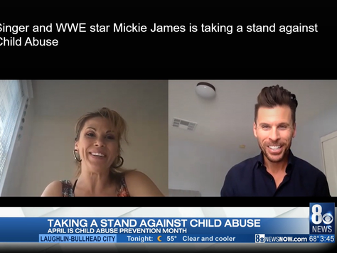 Singer and WWE star Mickie James is taking a stand against Child Abuse