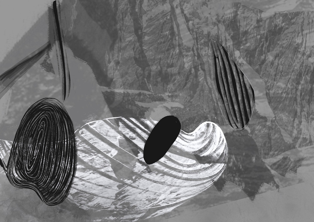 Abstract Digital Drawing by Contemporary Artist Genevieve Leavold