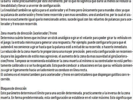 TUTORIAL DE AJUSTES DE CONDUCCIÓN