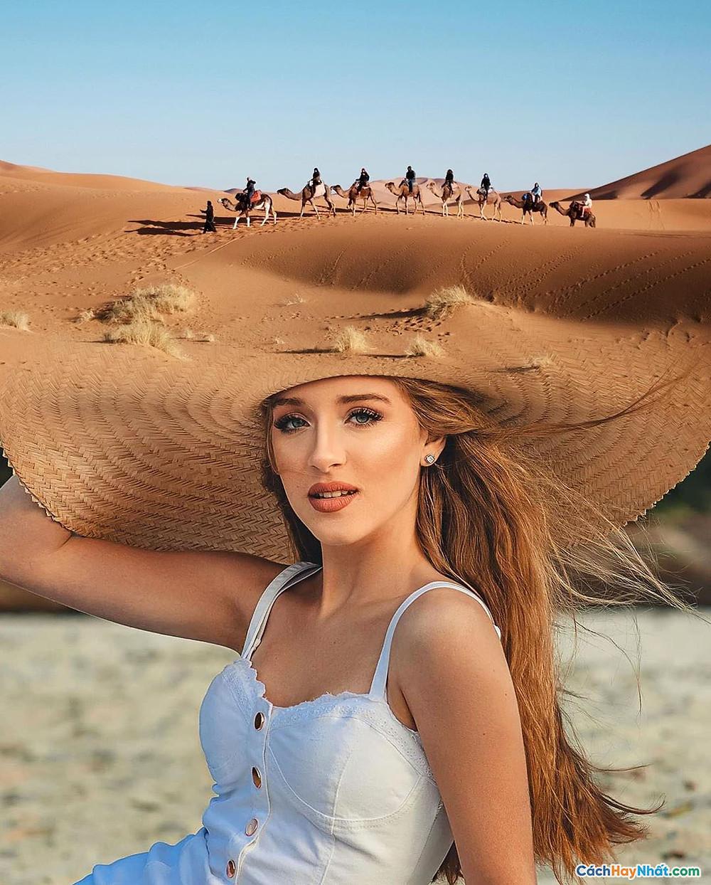 Chụp ảnh chiếc mũ sa mạc của Justin Peters