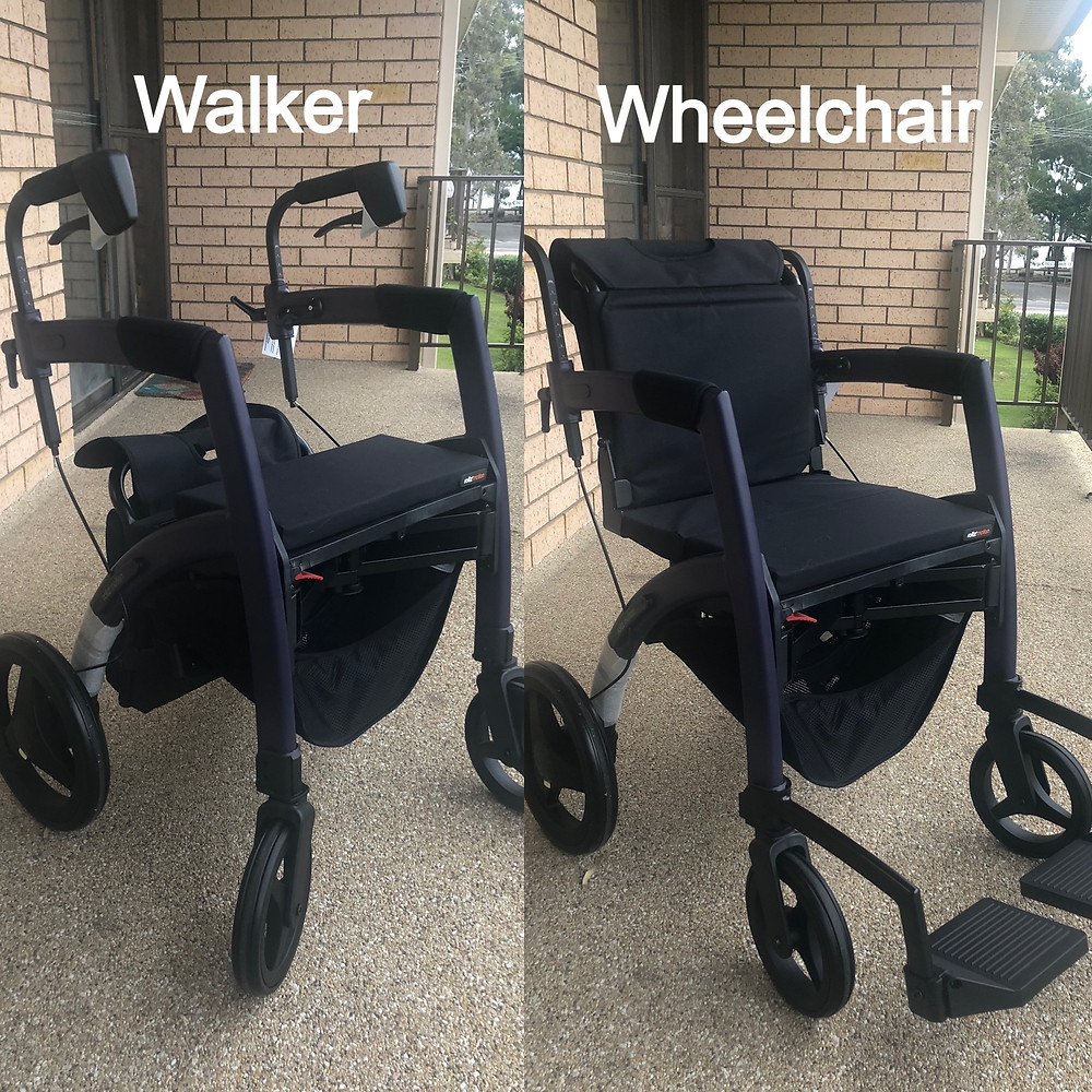 Side by side images of the Roll Motion in Walker and Wheelchair Mode