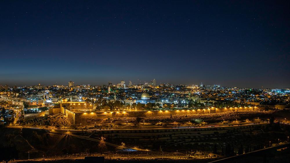 Jerusalem city at night