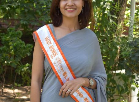 Haryana Dentist Dr Saroj Mann wins Haut Monde Mrs India Worldwide title