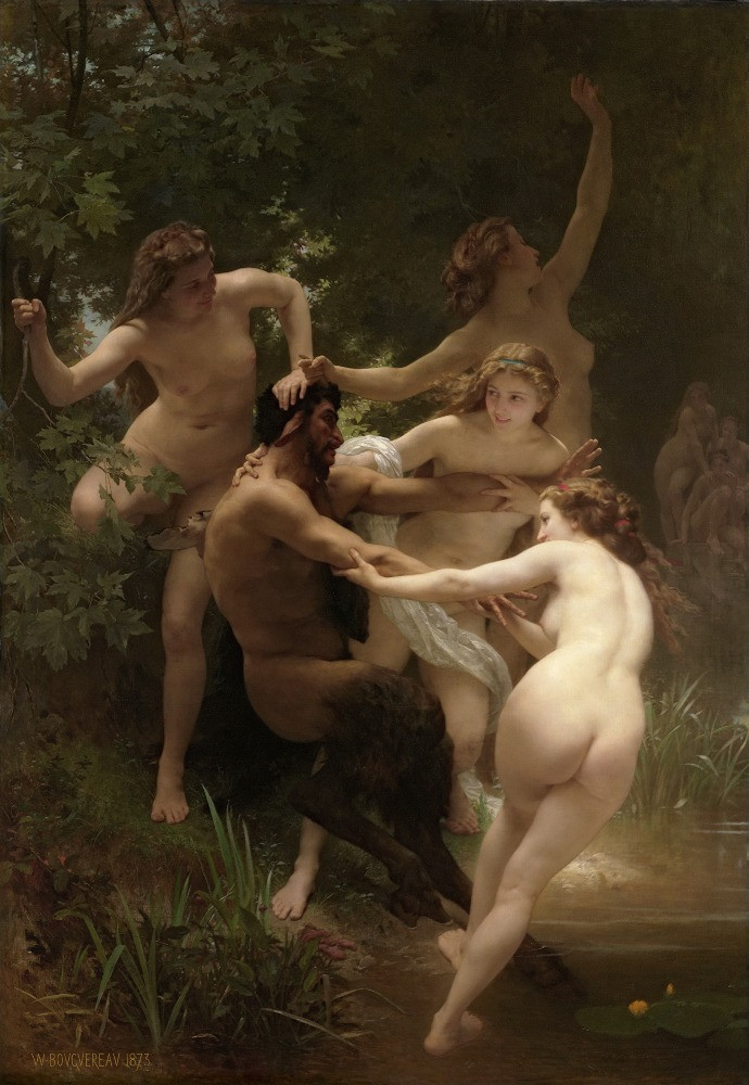 """The Nymphs"", by William-Adolphe Bouguereau"