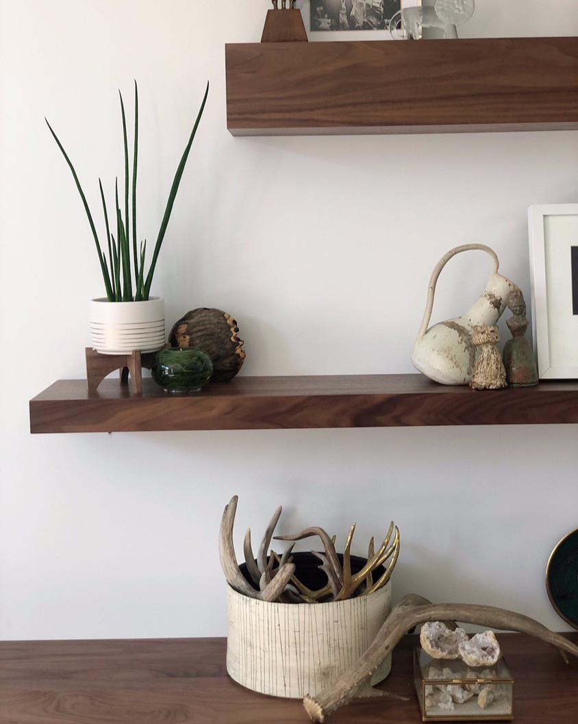 floating shelves mid century interior design