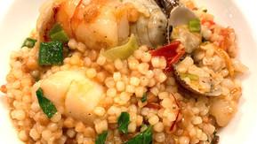 Fregula Sarda mit Meeresfrüchten