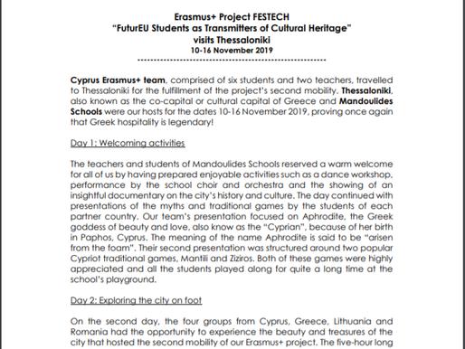 Erasmus+, Festech Mobility Report