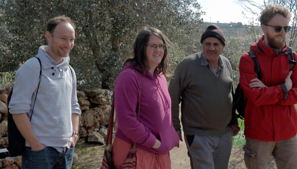 Dan Morrice, Louise Glenn and Dan Coe meeting Dahir