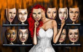 Facades of a woman