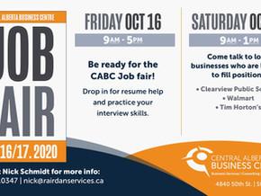 CABC to host Job Fair on October 16/17