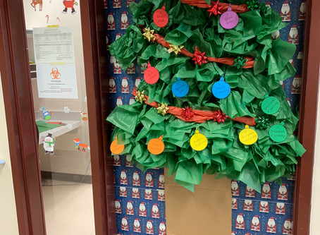 Holiday lab door decorating contest!