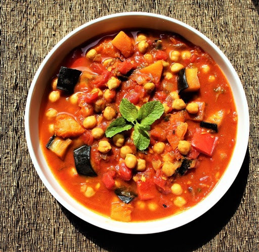Bowl of Moroccan Vegetable Tagine