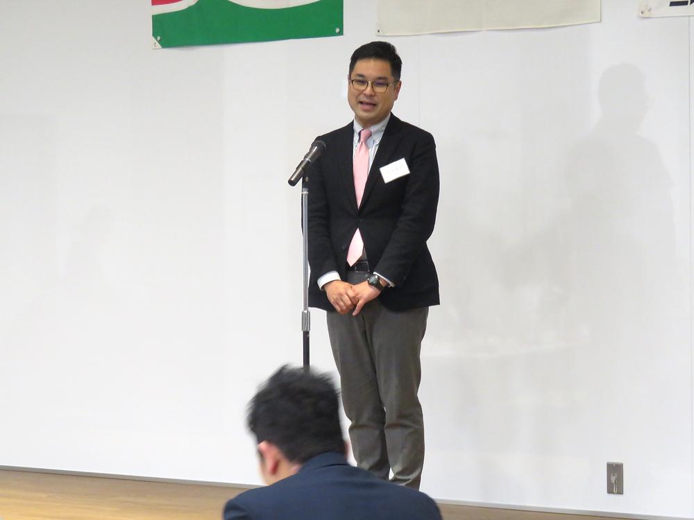 中島蔵人市議新年会で御挨拶させて頂きました