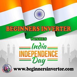 Beginners Inverter Wishes Happy Independence Day