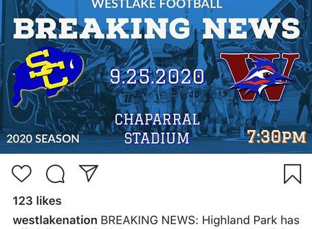 Chap Football Opens September 25