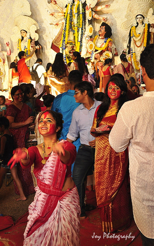 bengali cultural showcase during durga puja