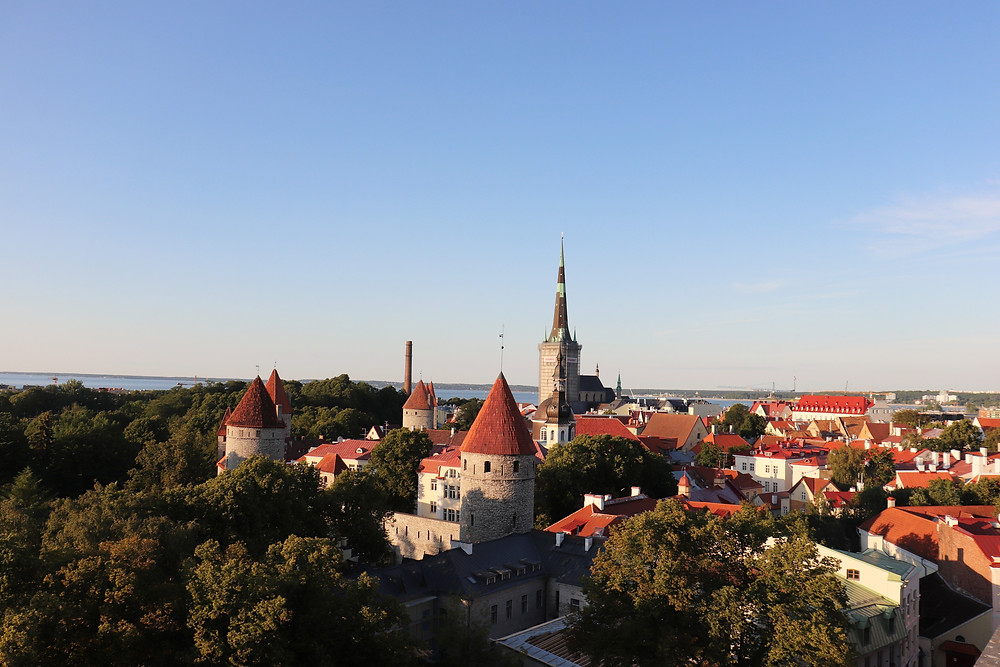 Viewpoint in Tallinn, Estonia of the old town