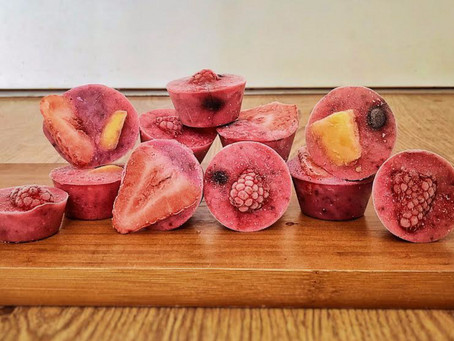 Iced Fruit Smoothie Cups For Dogs