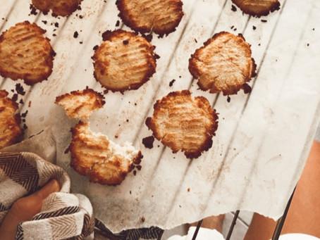 #Cookies καρύδας με 4 υλικά 🥥