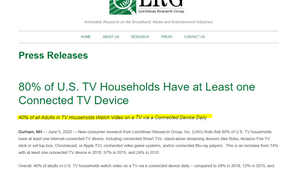 55% of people 18-34 in the US watch CTV  OTT daily.