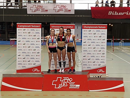 Valentina Rosamilia campionessa svizzera indoor sui 400m e 1000m, tutto nella stessa giornata!