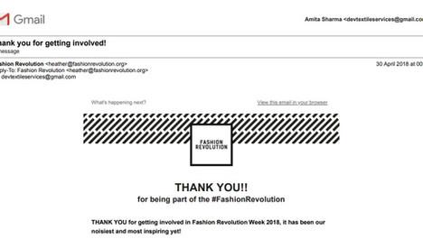 Thanks #Fashion Revolution Foundation