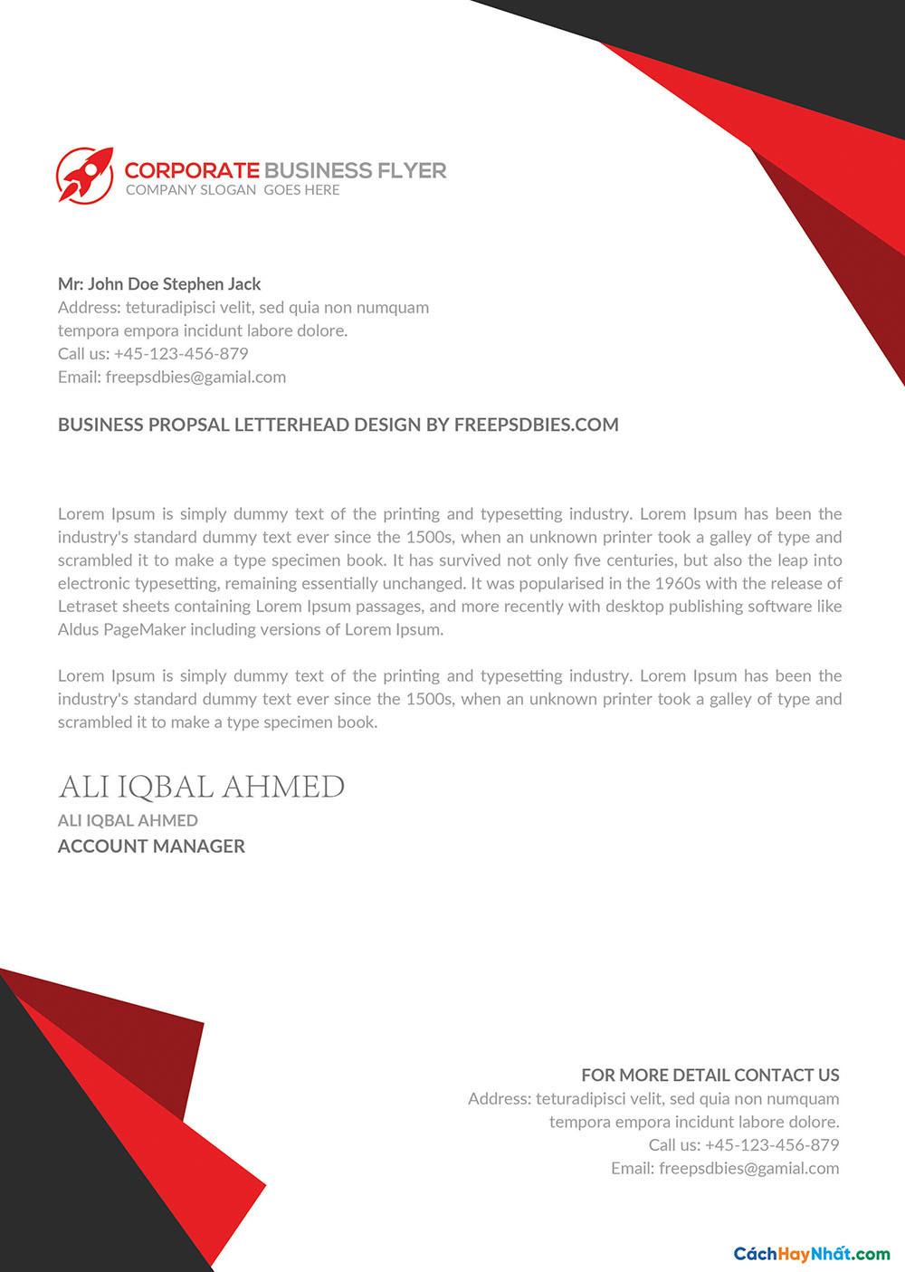File Letterhead Templates PSD AI