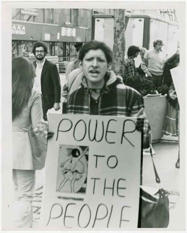 black and white photos of trans and gay rights activist Sylvia Rivera