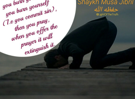 Prayer Extinguishes Sins