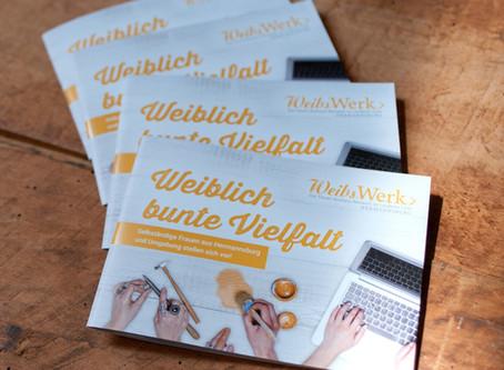 """WeibsWerk Broschüre: """"Weiblich bunte Vielfalt"""""""