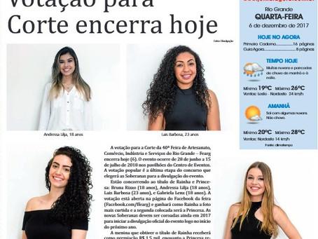 Na Imprensa - Jornal Agora divulga FEARG