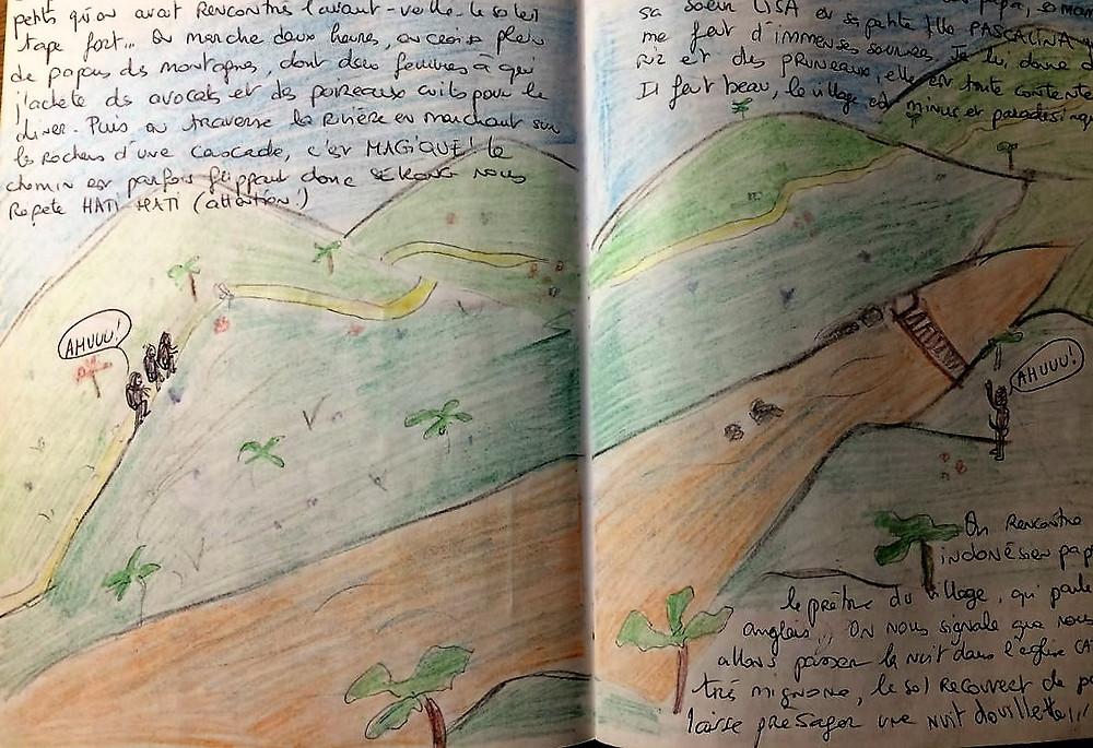 croquis dessins carnet de voyage papouasie