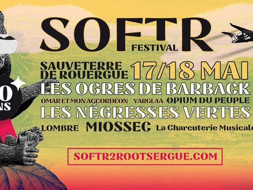 Le SOFT'R Festival fête ses 10 ans les 17 et 18 mai 2019 à Sauveterre de Rouergue