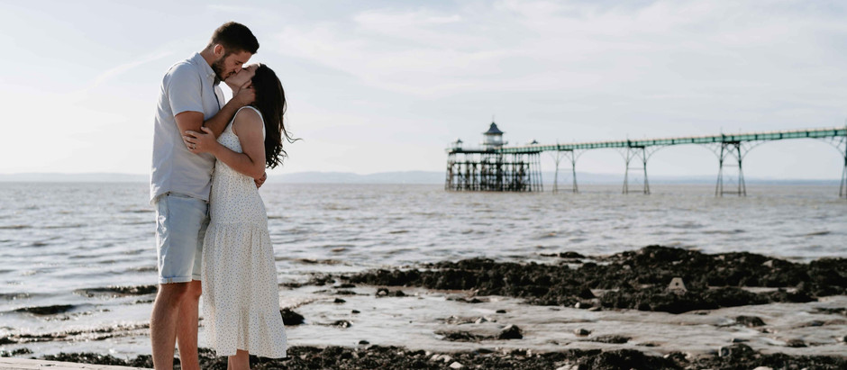 Charlie + Dan | Engagement Photo Shoot Clevedon Pier