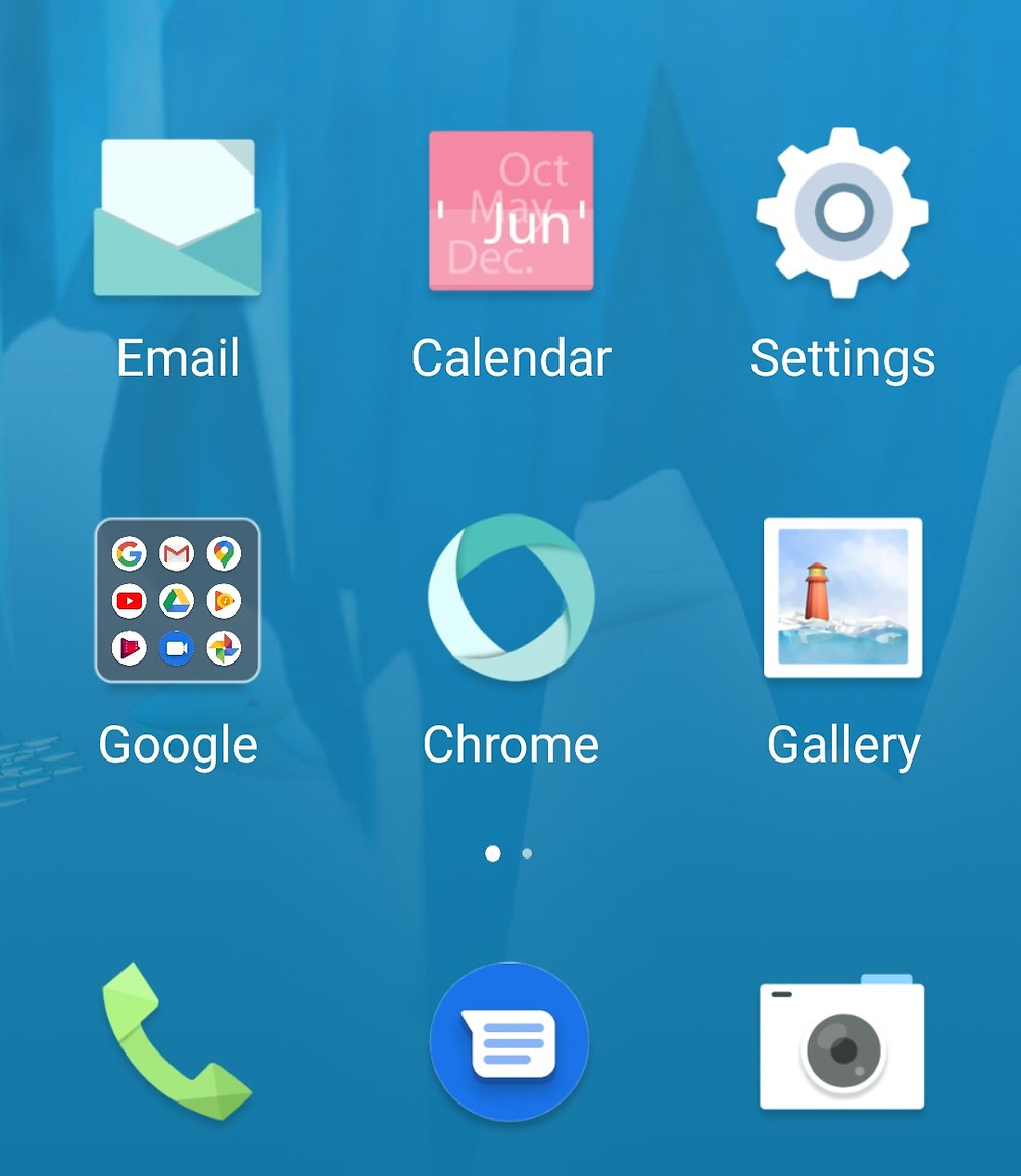 Android simple mode home screen