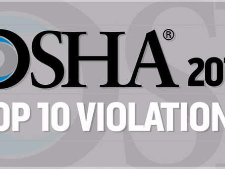 OSHA Announces Top Ten Violations For 2017