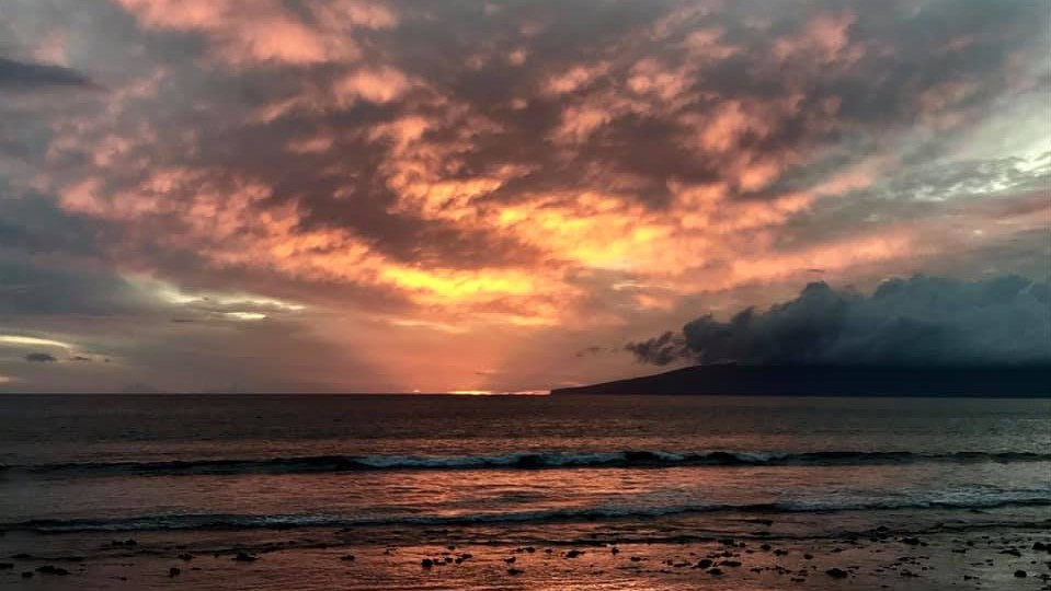 Sunset over the sea, Hawaii