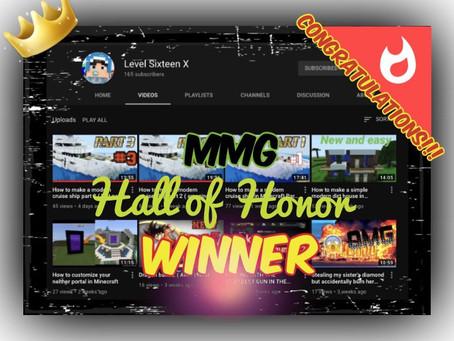 Hall of Honor Winner (Week 2)