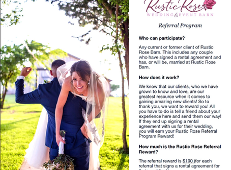 Rustic Rose Referral Program