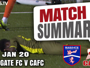 Match summary - Margate