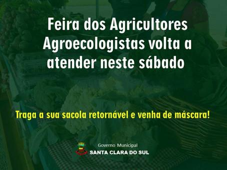 Feira de produtos orgânicos volta neste sábado, dia 23 de maio