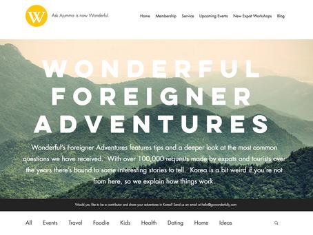 Wonderful's Foreigner Adventures Blog