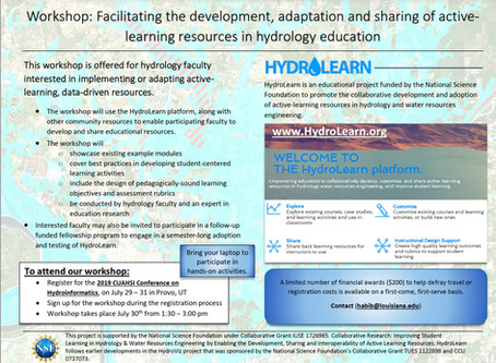 HydroLearn Workshop @ HydroInformatics CUAHSI Conference