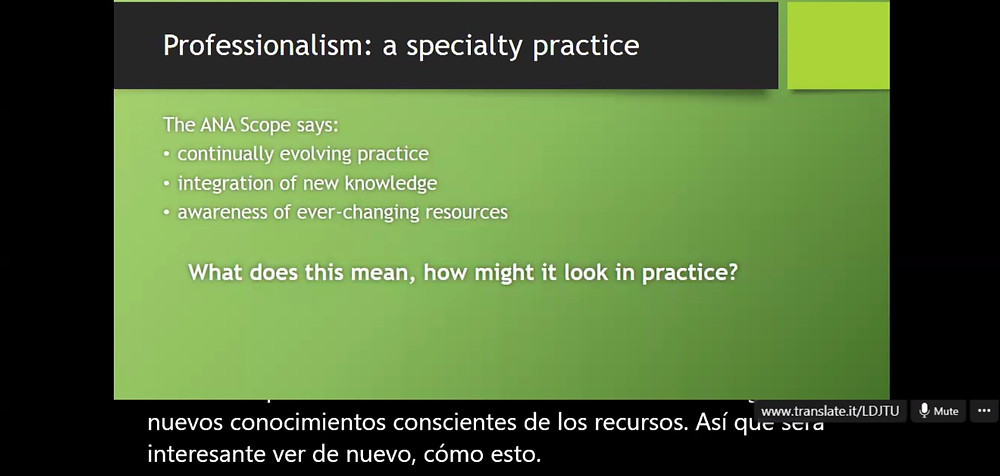 This course included our first spanish speaking student accommodated by translations on screen!