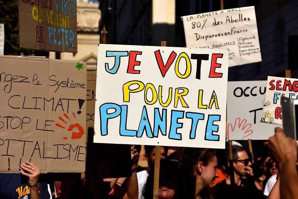 manifestation , marche pour le climat,