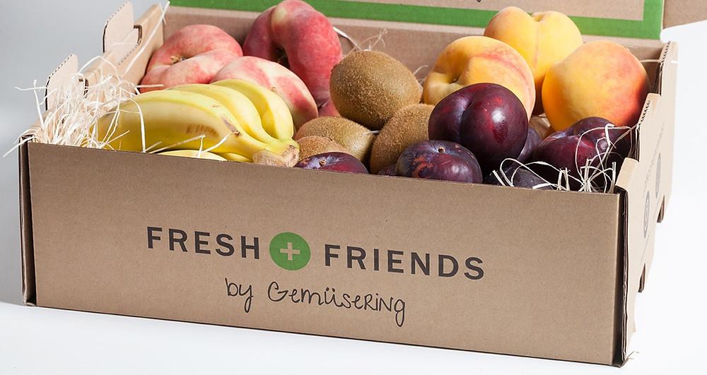 cesta de fruta fresca de Fresh and Friends