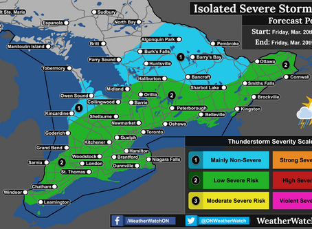Damaging Winds Possible as Severe Thunderstorms Target Southern Ontario